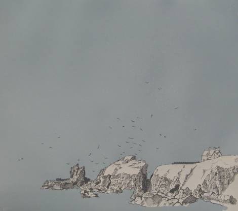Gannets and Gulls, Study Limited Edition Screenprint 2014