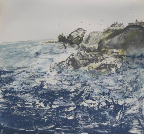 Swell at St Abbs Limited Screen Print 2014