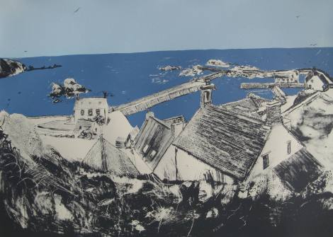 Roofs of St Abbs Limited Edition Screen Print 2014